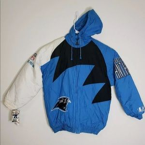 Vtg 90s Pro Line Carolina Panthers Jacket Sz L Men